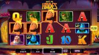 Hot as Hades Microgaming Slot Reels