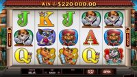 Kitty Cabana Microgaming Slot Reels