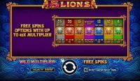 5 Lions Pragmatic Play Slot Bonus 1