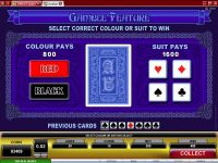 Avalon Microgaming Slot Gamble Screen