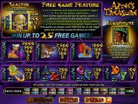 Aztec's Treasure Feature Guarantee RTG Slot Info