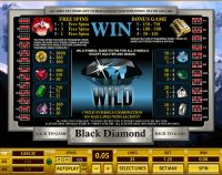 Black Diamond 25 Lines Topgame Slot Info