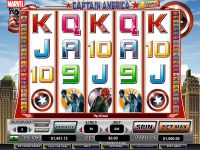 Captain America - Action Stacks! CryptoLogic Slot Slot Reels