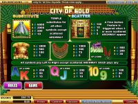 City of Gold WGS Technology Slot Info
