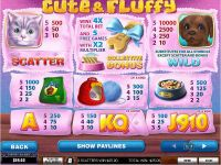 Cute and Fluffy PlayTech Slot Info