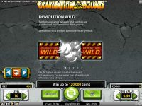 Demolition Squad NetEnt Slot Bonus 1