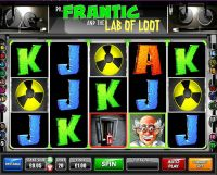 Dr.Frantic and the Lab of Loot Games Warehouse Slot Slot Reels