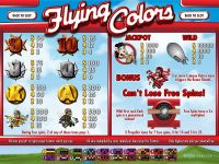 Flying Colors Rival Slot Info