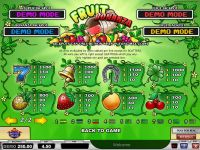 Fruit Bonanza Play'n GO Slot Info