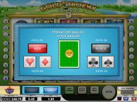 Gold Trophy Play'n GO Slot Gamble Screen