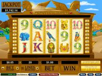 King Tut's Treasure RTG Slot Slot Reels