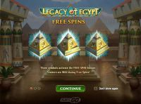 Legacy of Egypt Play'n GO Slot Free Spins Feature