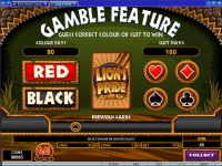 Lion's Pride Microgaming Slot Gamble Screen
