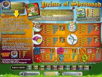 Prince of Sherwood RTG Slot Info