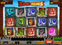 Rage to Riches Play'n GO Slot Slot Reels