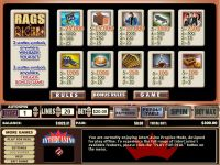 Rags to Riches 20 Lines CryptoLogic Slot Info