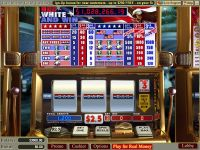 Red White and Win WGS Technology Slot Slot Reels