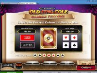 Rhyming Reels - Old King Cole Microgaming Slot Gamble Screen