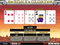 Rome and Glory PlayTech Slot Gamble Screen