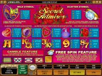 Secret Admirer Microgaming Slot Info