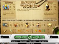 Secrets of Horus NetEnt Slot Info