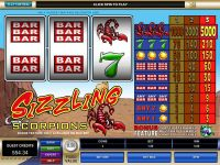 Sizzling Scorpions Microgaming Slot Slot Reels