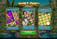 Temple Quest Spinfinity Big Time Gaming Slot Info