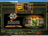 Untamed - Bengal Tiger Microgaming Slot Bonus 1