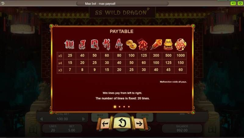 88 Wild Dragons Booongo Slot Info