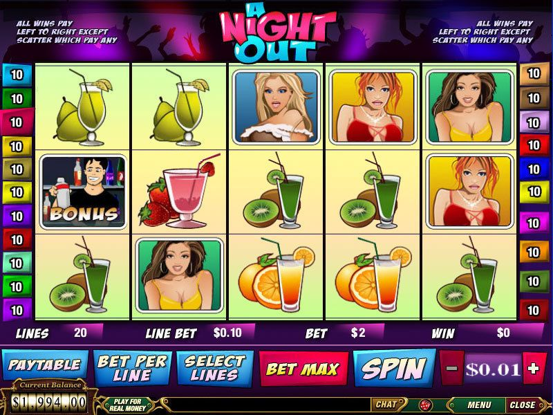 A Night Out PlayTech Slot Slot Reels
