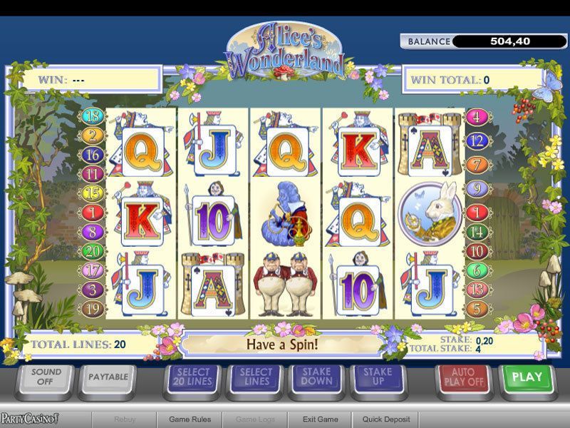 Alice's Wonderland PlayTech Slot Slot Reels