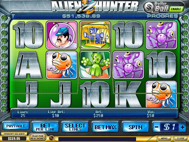 Alien Hunter PlayTech Slot Slot Reels