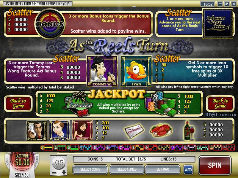 As the Reels Turn 1 Rival Slot Info