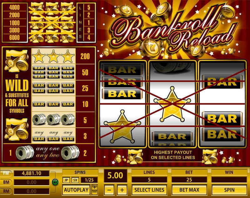 Bankroll Reload 1 Line Slot - Play Online for Free Now