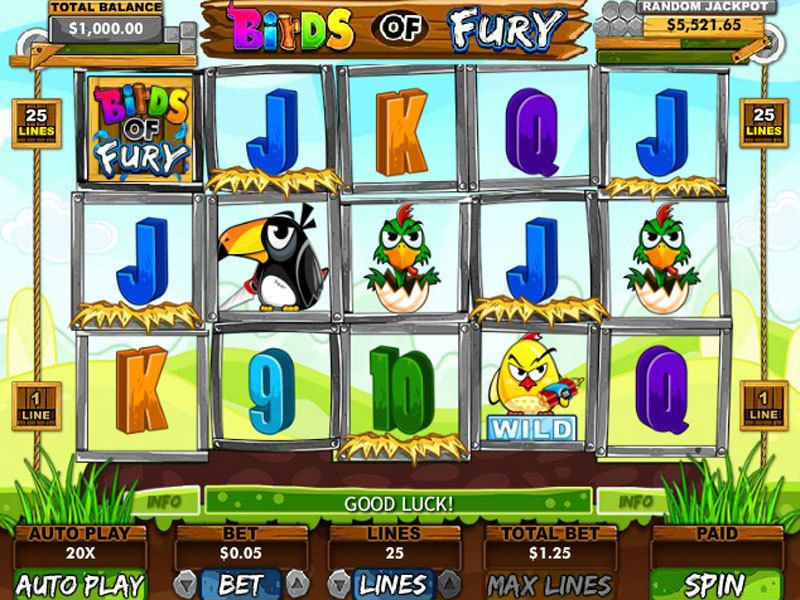 Birds of Fury RTG Slot Slot Reels