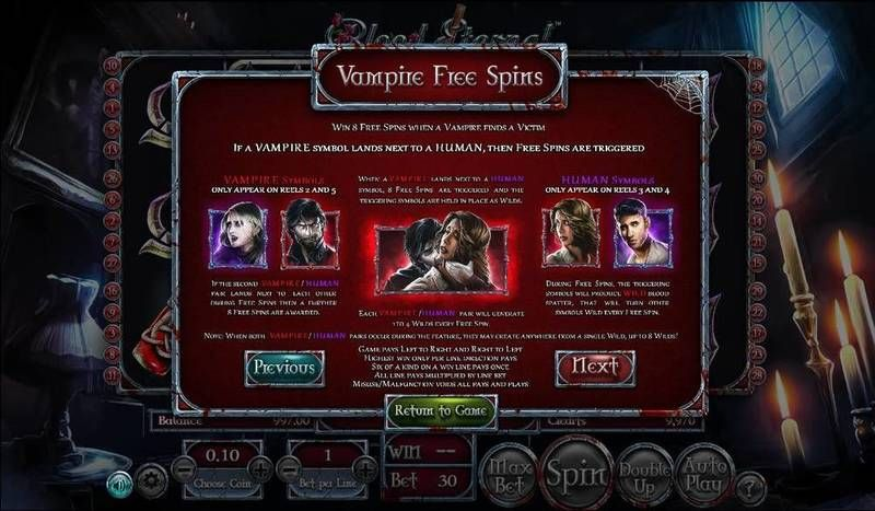 Blood Eternal BetSoft Slot Bonus 1