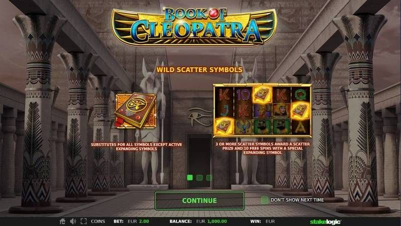 Book of Cleopatra StakeLogic Slot Bonus 1