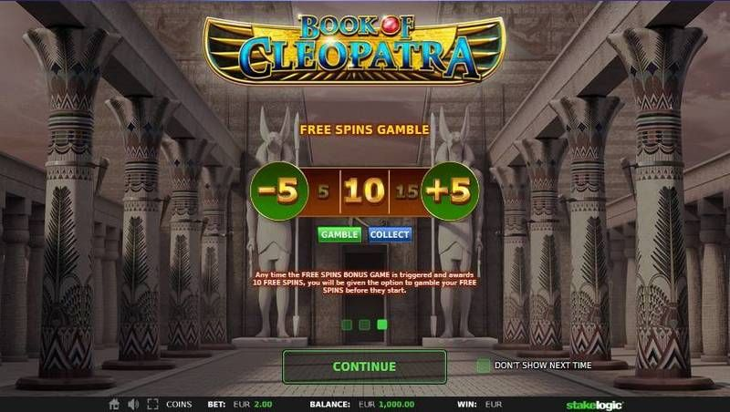 Book of Cleopatra StakeLogic Slot Bonus 2