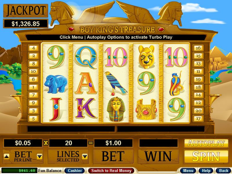 Boy King's Treasure RTG Slot Slot Reels