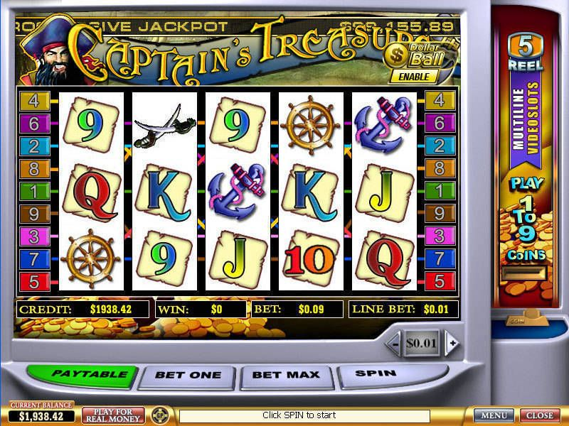 Captain's Treasure PlayTech Slot Slot Reels