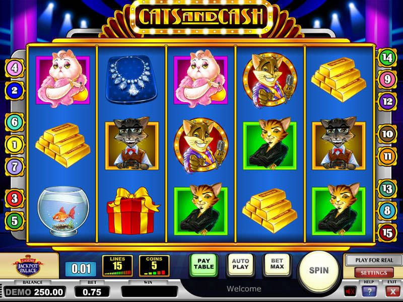 Cats & Cash Play'n GO Slot Slot Reels