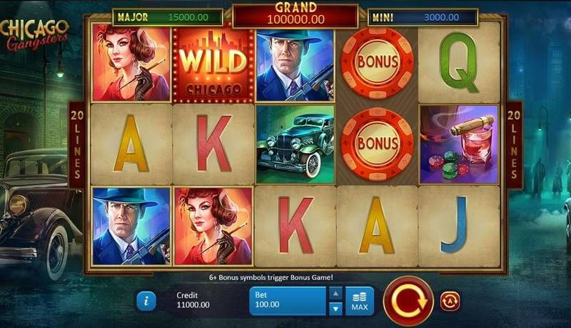 Chicago Gangsters Playson Slot Main