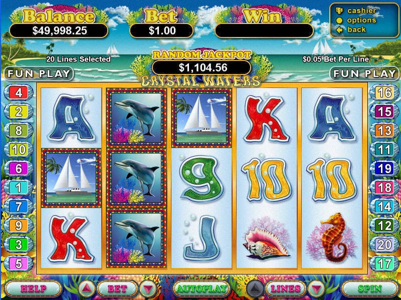 Crystal Waters Slot Game Online – Play RTG Slots for Free