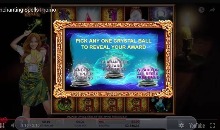 Enchanting Spells 2 by 2 Gaming Slot Free Spins Feature