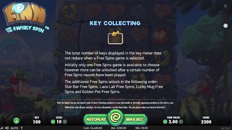 Finn and the Swirly Spin NetEnt Slot Bonus 2