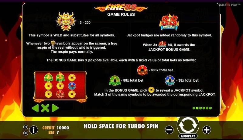 Fire 88 Pragmatic Play Slot Bonus 1