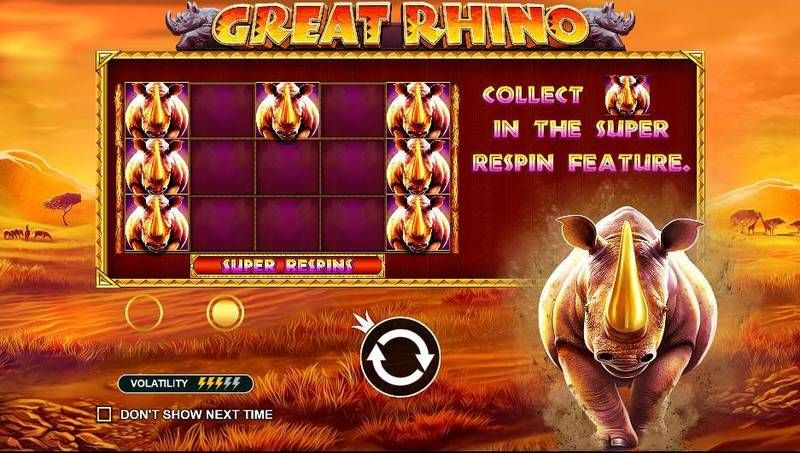Great Rhino Pragmatic Play Slot Info