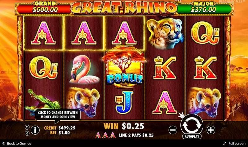 Great Rhino Pragmatic Play Slot Slot Reels