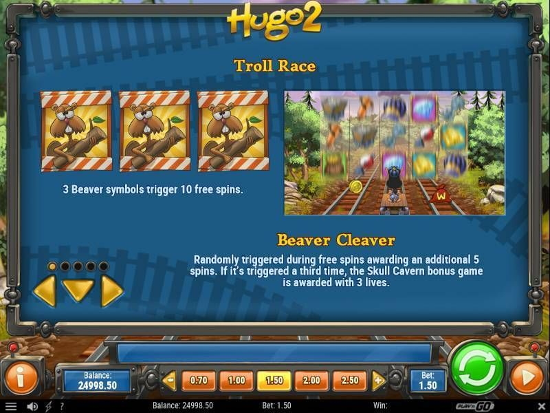 Hugo 2 Play'n GO Slot Bonus 3