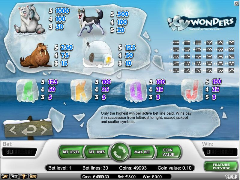 Icy Wonders NetEnt Slot Info